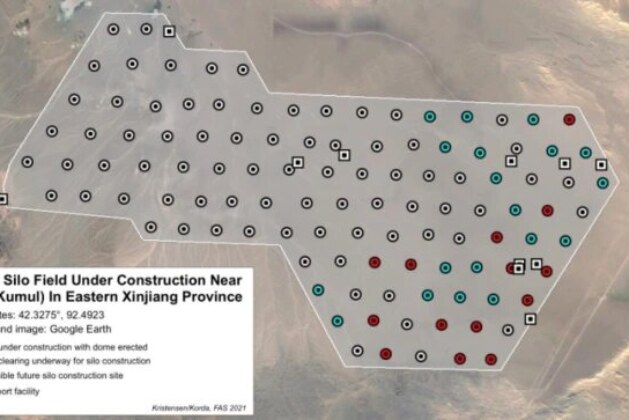 Second Chinese nuclear missile silo field found in Xinjiang
