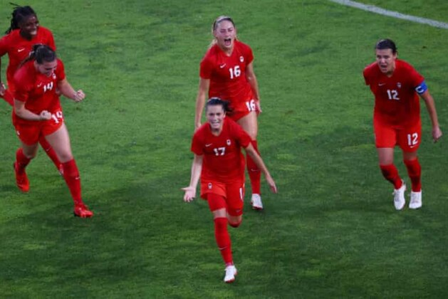 USA stunned by Jessie Fleming penalty as Canada reach Olympic soccer final